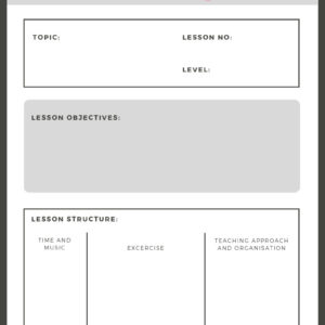 Lesson plan for balletclass.