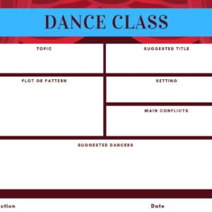 Choreography worksheet by BalletConsultlant